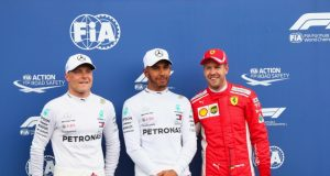 Formel 1 - Mercedes-AMG Petronas Motorsport, Großer Preis von Frankreich 2018. Valtteri Bottas Lewis Hamilton Sebastian Vettel (Ferrari) © Mercedes-AMG Petronas Motorsport