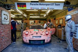 Porsche 911 RSR, Porsche GT Team (92), Kevin Estre (F), Michael Christensen (DK), Laurens Vanthoor (B), Le Mans 2018