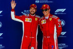 Formel 1 GP Grßbritannien Sebastian Vettel Kimi Raikkönen Ferrari © Scuderia Ferrari
