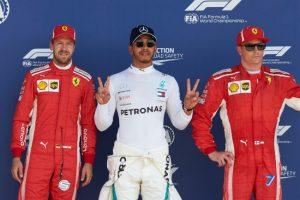 Formel 1 - Mercedes-AMG Petronas Motorsport, Großer Preis von Großbritannien 2018. Sebastian Vettel Lewis Hamilton Kimi Raikkoenen © Mercedes-AMG Petronas Motorsport