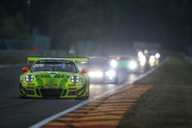 24 Stunden von Spa Manthey-Racing, Porsche 911 GT3 R (911), Romain Dumas (F), Frederic Makowiecki (F), Dirk Werner (D), Spa-Francorchamps 2018 © Porsche Motorsport