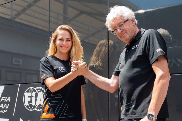 Sophia Flörsch steigt in die Formel 3 EM ein Sophia Flörsch und Frits van Amersfoort © F3 EM