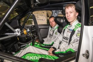 Die finnischen ŠKODA Junioren Kalle Rovanperä/Jonne Halttunen freuen sich auf ihr erstes Heimspiel im WRC 2-Championat © Skoda Motorsport