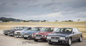 Mit sechs historischen Exponaten und Modellen aus jüngerer Vergangenheit und Gegenwart feiert Jaguar beim diesjährigen Oldtimer- Grand-Prix den 50. Geburtstag seiner sportlichen Repräsentationslimousine XJ © Jaguar