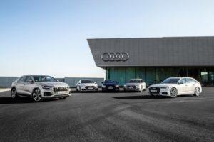 Audi A8, Audi A7, Audi A6 und Audi Q8 – eine Familie mit unterschiedlichen Charakteren © Audi AG