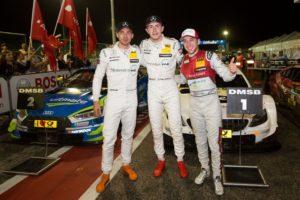 Edoardo Mortara (ITA, Mercedes-AMG), Paul di Resta (GBR, Mercedes-AMG), Robin Frijns (NED, Audi © DTM
