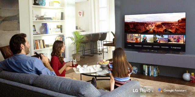LG TV 2018 Google Assistant © LG