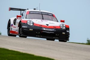 Porsche 911 RSR (912), Porsche GT Team Earl Bamber, Laurens Vanthoor IMSA 9.Lauf © Porsche Motorsport