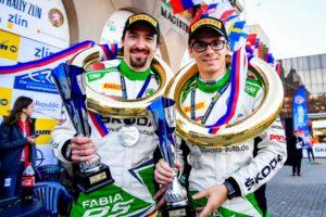 Starker zweiter Platz in Tschechien: Fabian Kreim verteidigt U28-Führung in der Rallye-EM © Skoda Motorsport