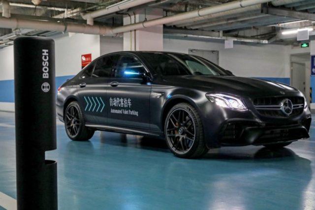 Automated Valet Parking wird von Daimler und Bosch gemeinsam entwickelt und erstmals erfolgreich in Peking präsentiert © Daimler AG