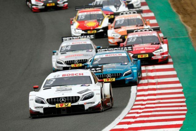 DTM Brands Hatch 2018 DTM 2018 Paul Di Resta vor Gary Paffett © DTM