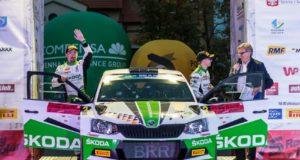 Erfolgsserie in der FIA Rallye-Europameisterschaft (ERC): Fabian Kreim und Frank Christian (D/D) schaffen bei der Rallye Polen als Dritte der U28-Wertung ihren vierten Podestplatz in dieser Klasse in Folge © Skoda Motorsport
