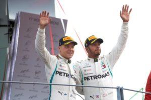 Formel 1 - Mercedes-AMG Petronas Motorsport, Großer Preis von Italien 2018. Lewis Hamilton, Valtteri Bottas © Mercedes-AMG Petronas Motorsport