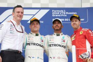 Formel 1 - Mercedes-AMG Petronas Motorsport, Großer Preis von Russland 2018. Lewis Hamilton, Valtteri Bottas © Mercedes-AMG Petronas Motorsport