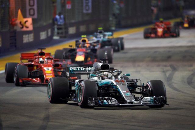 Formel 1 GP von Singapur 2018 Formel 1 - Mercedes-AMG Petronas Motorsport, Großer Preis von Singapur 18. Lewis Hamilton © Mercedes AMG Petronas Motorsport