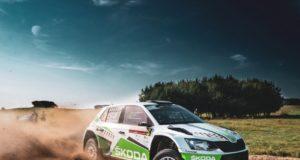 Fabian Kreim und Frank Christian (D/D) zeigen bei der Rallye Polen eine ganz starke Leistung auf eher ungewohntem Schotterbelag und steuern auf einen Podestplatz zu. © Skoda Motorsport