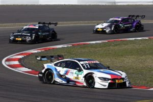 Marco Wittmann (GER) BMW Driving Experience M4 DTM BMW M4 DTM, Bruno Spengler (CAN) BMW Bank M4 DTM and Joel Eriksson (SWE) BMW M4 DTM © BMW M Motosport