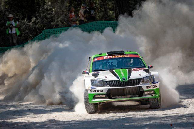 Das SKODA Werksteam Jan Kopecký/Pavel Dresler (SKODA FABIA R5) gewann die WRC 2-Kategorie bei der Rallye Türkei Marmaris © Skoda Motorsport