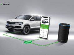 Alexa in SKODA Connect wird dreisprachig: Die Abfrage von Fahrzeuginformationen über den SKODA Connect Alexa Skill des Sprachassistenten Alexa ist in Kürze in Englisch, Deutsch und Französisch möglich © Skoda