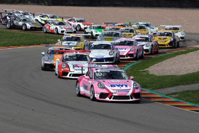 Porsche Carrera Cup Deutschland 2018- Start Porsche 911 GT3 Cup, Thomas Preining (A), Porsche Carrera Cup Deutschland, Sachsenring - 2018 © Porsche Motorsport