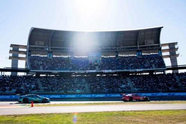 DTM Hockenheim II 2018 #2 Gary Paffett, Mercedes-AMG C 63 DTM; #33 René Rast, Audi RS5 DTM © DTM