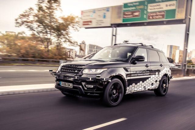 Autonomer Range Rover Sport meistert den Autobahnring von Coventry © Jaguar