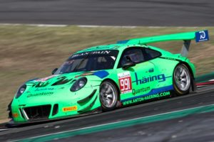 Herberth Motorsport, Porsche 911 GT3 R (991), Jürgen Häring (D), Edward-Lewis Brauner (D), Wolfgang Triller (D), Barcelona 2018 © Porsche Motorsport