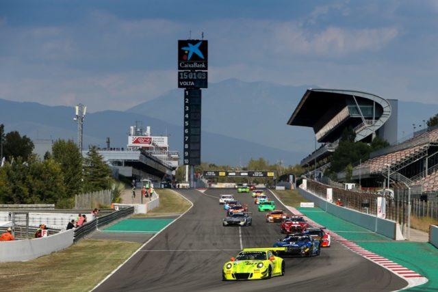 Manthey-Racing, Porsche 911 GT3 R (911), Romain Dumas (F), Frederic Makowiecki (F), Dirk Werner (D), Barcelona 2018 © Porsche Motorsport