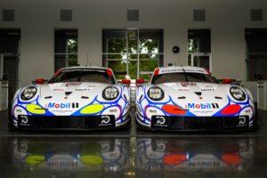 Porsche 911 RSR, Porsche GT Team Earl Bamber, Laurens Vanthoor, Mathieu Jaminet (912); Patrick Pilet, Nick Tandy, Frederic Makowiecki (911 © Porsche Motorsport