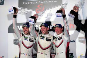 Porsche GT Team (911): Frederic Makowiecki, Nick Tandy, Patrick Pilet (l-r) © Porsche Motorsport