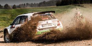 Staub aufgewirbelt: Fabian Kreim/Frank Christian schafften im Kontinentalchampionat zuletzt vier Podestplätze in Serie. © Skoda Motorsport