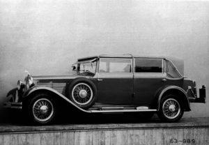 Historische Fotografie des einzigen bis heute erhaltenen SKODA 860 Cabriolets. Die Baureihe umfasste auch eine Limousine und ein Faux-Cabriolet. Zwischen 1929 und 1933 produzierte SKODA rund 50 Exemplare. © Skoda