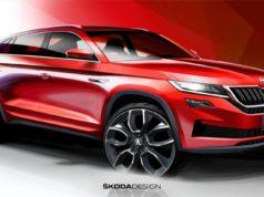 SKODA gewährt mit Designskizzen des neuen SKODA KODIAQ GT einen ersten Blick auf das künftige Topmodell auf dem chinesischen Markt © Skoda