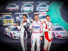 Thomas Preining (A), BWT Lechner Racing, Michael Ammermüller (D), BWT Lechner Racing, Nick Yelloly (GB), FACH AUTO TECH, Porsche Mobil 1 Supercup, 2018 © Porsche Motorsport