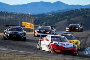 Wright Motorsports, Porsche 911 GT3 R (911), Romain Dumas (F), Frederic Makowiecki (F), Dirk Werner (D), Laguna Seca 2018 © Porsche Motorsport