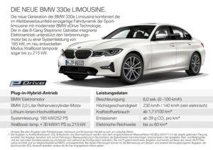 Neuer BMW 330e Limo © BMW AG