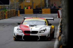 Macau (CHN) 17th November 2018. BMW M Motorsport, FIA-GT World Cup, Podium, Winner #42 BMW Team Schnitzer (GER) BMW M6 GT3, Augusto Farfus (BRA). © BMW Motorsport