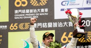 Macau (CHN) 17th November 2018. BMW M Motorsport, FIA-GT World Cup, Podium, Winner #42 BMW Team Schnitzer (GER) BMW M6 GT3, Augusto Farfus (BRA). © BMW Motorsport