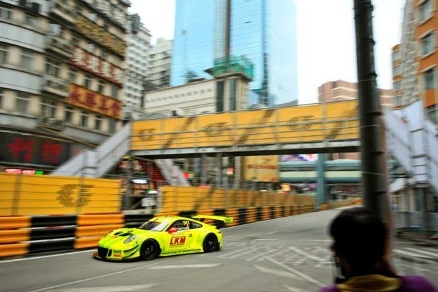 Porsche 911 GT3 R, Manthey-Racing (911), Laurens Vanthoor (B), Macau 2018 © Porsche Motorsport
