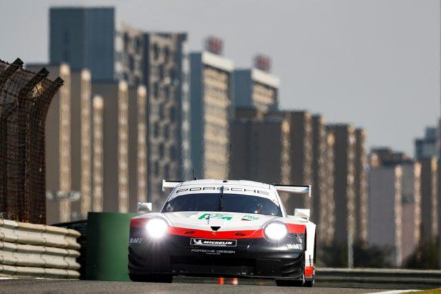 Porsche 911 RSR, Porsche GT Team (92), Michael Christensen (DK), Kevin Estre (F), Shanghai 2018 © Porsche Motorsport
