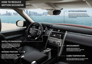 Jaguar und Land Rover Modelle von morgen unterstützen die Bekämpfung von Reisekrankheit © Jaguar Land Rover