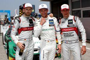 René Rast (GER), Audi; Marco Wittmann (GER), BMW; Loïc Duval (FRA), Audi